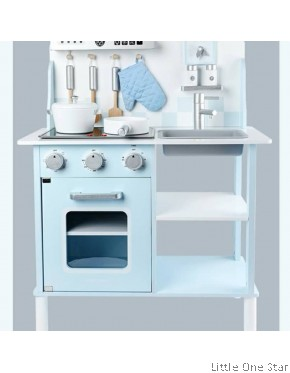 Kitchen: Pastel color Kitchen with Light and sound (Make cooking real)
