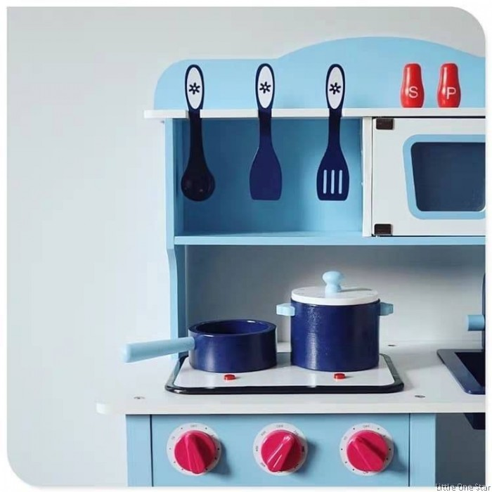 Kitchen Madness Blue Kitchen With Oven Utensils Free