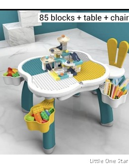 85pcs Building Blocks with Table + Rabbit Chair