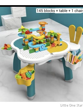 145pcs Zoo Building Blocks with Table + Rabbit Chair