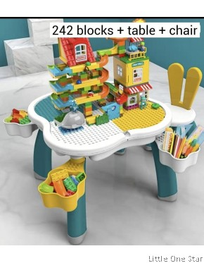 242 Slides Building blocks with table + Chair