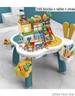 248 Windmill Building Blocks + Table + Chair