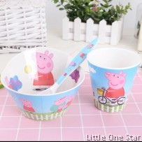 Theme Bowl, Spoon and Cup set (more than 6 design)
