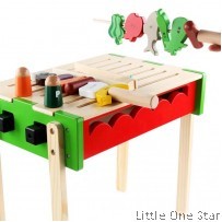 Wooden Toys: U le BBQ set standing model