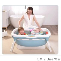 Bath Tub: Mom & Baby kids Foldable bath tub BIG (Can fit 0 age to adult)