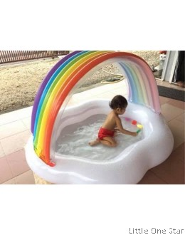Inflatable Pool: Rainbow